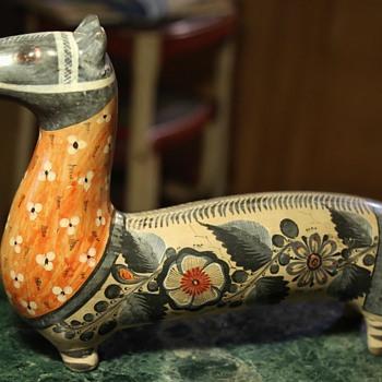 Tonala Burnished Pottery Horse by Solis - Mexico - Pottery