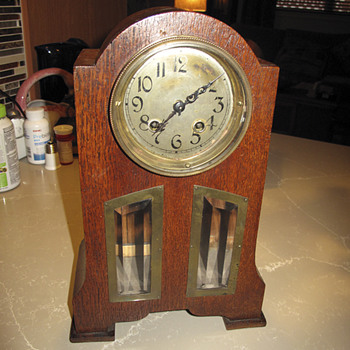 Mauthe Clock 1900 - 1928 Highboy Mantle Clock - Clocks