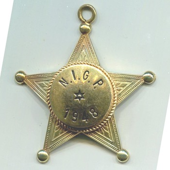 Blackinton N.I.G.P. Advertising  Badge Medal - Advertising