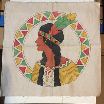 Vintage Indian cloth print unknown style - Native American