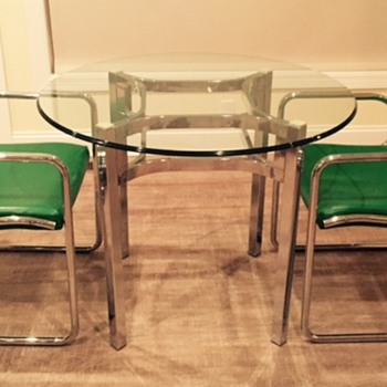 "From a high end 1960s department store - this set was used in the ""ladies lounge""  - Mid-Century Modern"