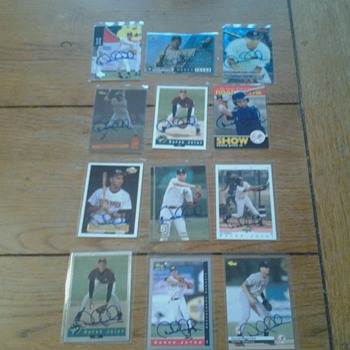 Derek Jeter Signed Cards 1994-1995 - Baseball