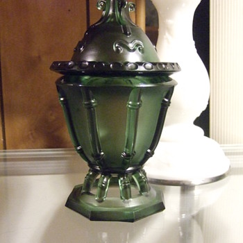 Emerald Green Compote/Candy Dish - Glassware