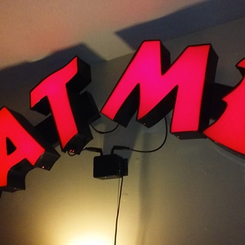 fun with red neon 'channel letters' - Signs
