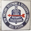 New England Telephone & Telegraph Co. Red Arrow Porcelain Sign