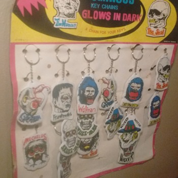 1979 Monster Keychain Display !!!! - Toys