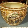Antique Chinese Oriental Asian Pottery Porcelain Fish Bowl Planter