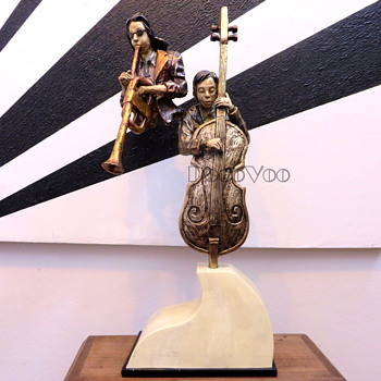 "Large Jazz Musicians Statue LARGE 35"" Tall - Fine Art"