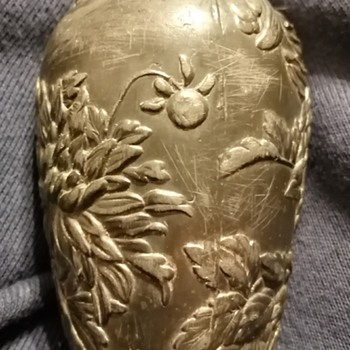 Japanese/Chinese metal vase - Asian
