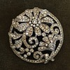 Old Trifari Rhinestone Art Nouveau inspired Design Brooch