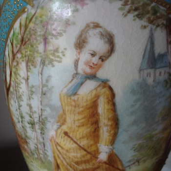 A Sevres urn lamp - Pottery