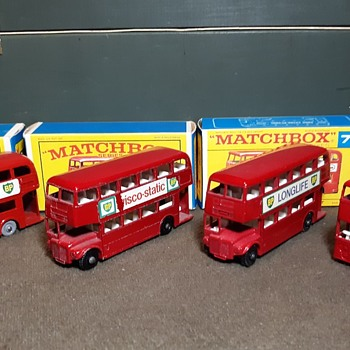 More Multiple Matchbox Monday Many London Buses - Model Cars
