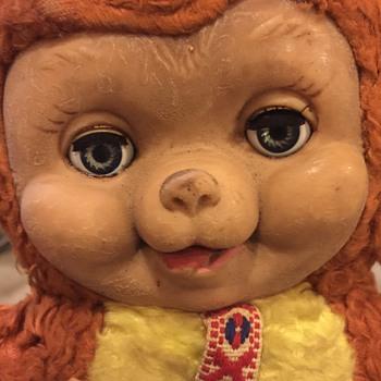 Vintage Plastic Face Teddy Bear Era??? - Dolls
