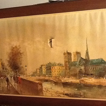 Antonio DeVity (1901-1993)y need restoration 24by 48 inches found in garbage bin.I think is really cool even with holes  - Fine Art