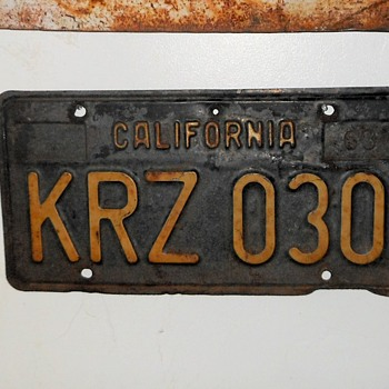 My KRaZy CA License Plate and Others - Classic Cars