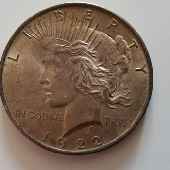 lucky 1922 us silver dollar