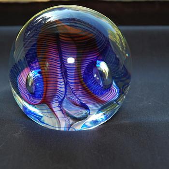 Abstract Art Glass Weights - Art Glass