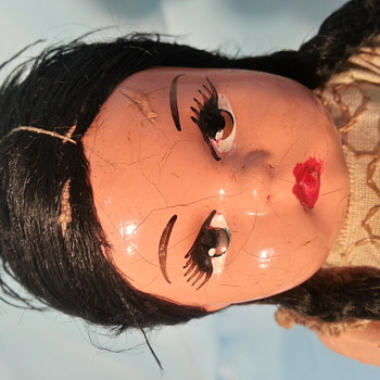 very old paper mache or composition doll mexico ? - Dolls