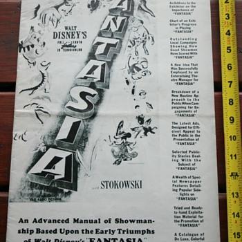"""Disney """"Fantasia"""" Pressbook 1942"""