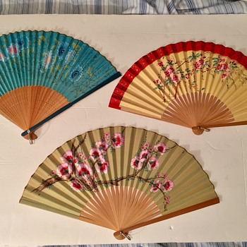 Antique Japanese Hand Fans Circa 1910 - Accessories