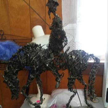 Mid Century Don  Quixote Wire Sculpture - Fine Art
