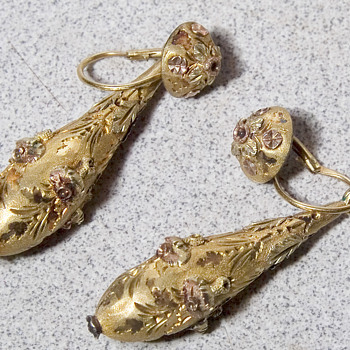 22k Gold Earrings Vintage
