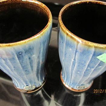 blue glazed glasses? - Pottery