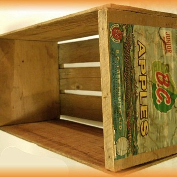 WOODEN APPLE BOX ( Crate )  - BC APPLES - Advertising