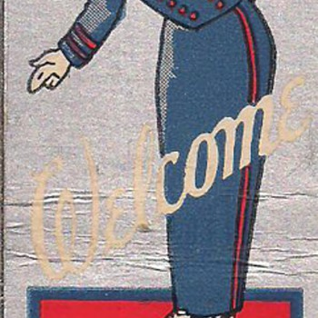 Art Deco Bellhop Matchcover