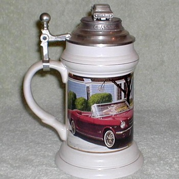 "Ceramic ""Ford Mustang"" Anniversary Stein - Breweriana"