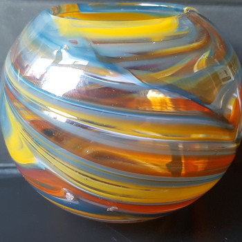 Signed Mdina Art Glass pot - Art Glass