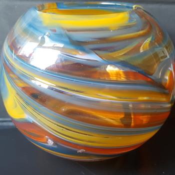 Signed Art Glass pot - Art Glass