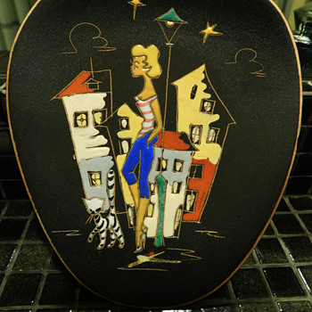 Ruscha Pottery Mid Century Plaque - Pottery