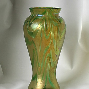 Kralik Aqua Gold - Art Glass