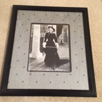 Yard Sale Find Autograped Bette Davis Photo