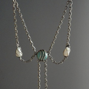 Jugendstil Pearl & Turquoise Necklace by Carl Hermann from Pforzheim - Fine Jewelry