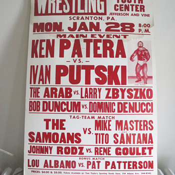 Vintage Pro Wrestling Poster..... - Posters and Prints