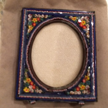 Antique Italy mosaic picture frame  - Fine Art