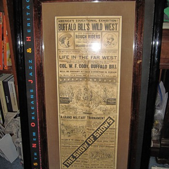 Buffalo Bill Wild West World's Fair Cowboys and Indians Advertisement Show of All Shows - Advertising