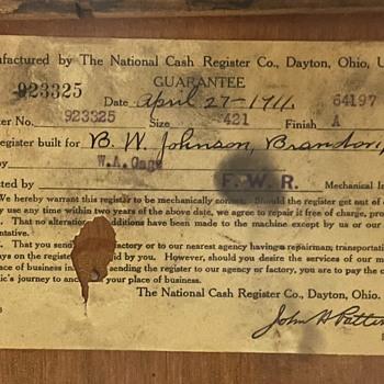 1911 National Cash Register needs metal restoration - Coin Operated