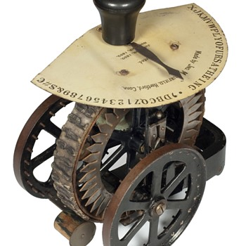 Dart 1 typewriter - The Connecticut Mfg. Company, Hartford, Conn. - 1890  - Office