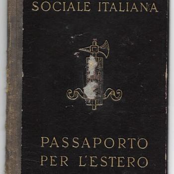 1944 RSI Italian fascist passport - Paper