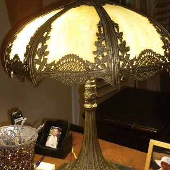 My grandmother's slag lamp from 1910? Anyone know more?