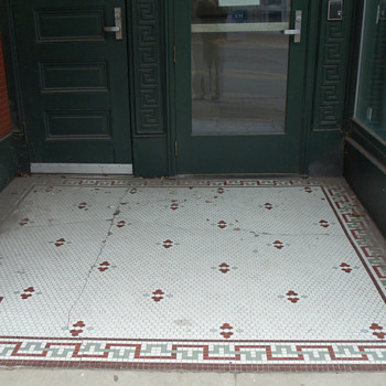 Mosaic Tile Entryway - Pottery