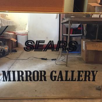 SEARS DEPT. STORE MIRROR GALLERY DISPLAY MIRROR 1984-2000 - Advertising