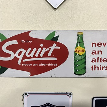 Squirt soda sign  - Signs