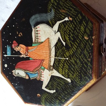 Made in india handpainted box with two bells