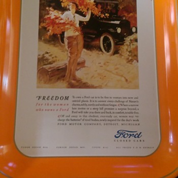 Ford Tray (Ford Closed Cars) - Advertising