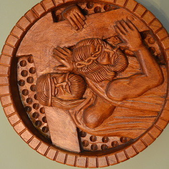 Wood Carved Stations of the Cross - Folk Art