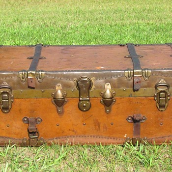 1910 - 1920 Vulcanized Fiber Steamer Trunk  - Furniture